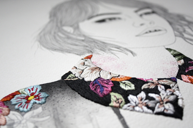 Izziyana suhaimi embroidered artwork a bolt in the blue